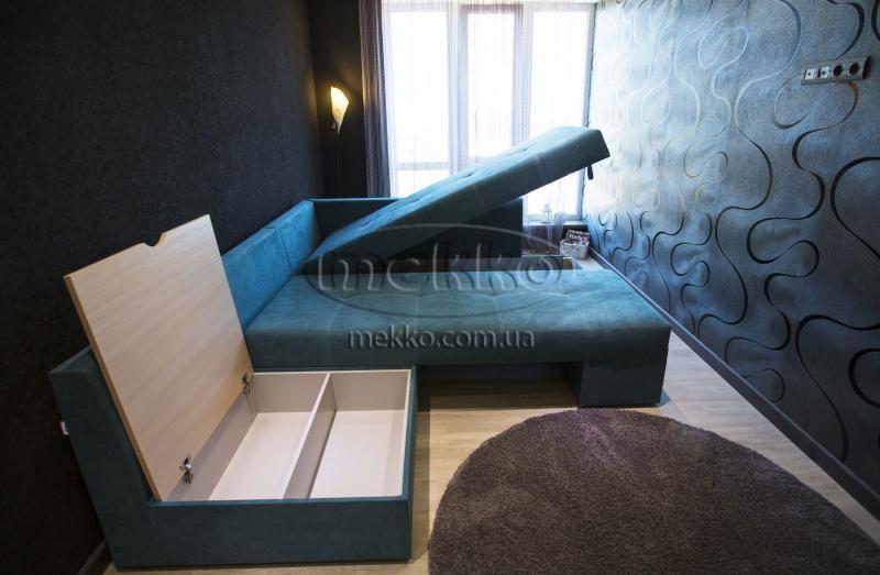 Кутовий диван з поворотним механізмом (Mercury) Меркурій ф-ка Мекко (Ортопедичний) - 3000*2150мм  Броди-7